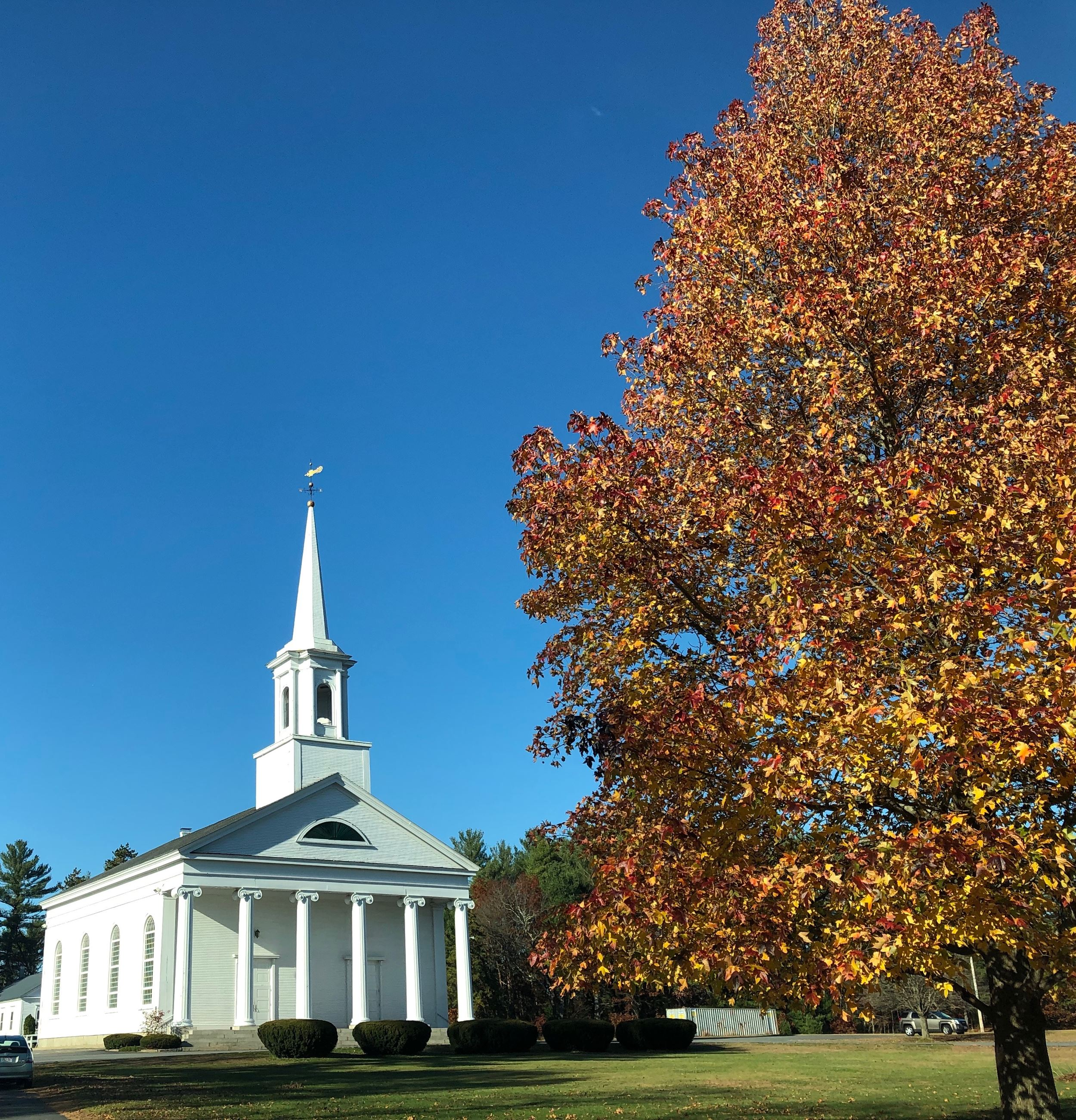Church on the Green in the Fall