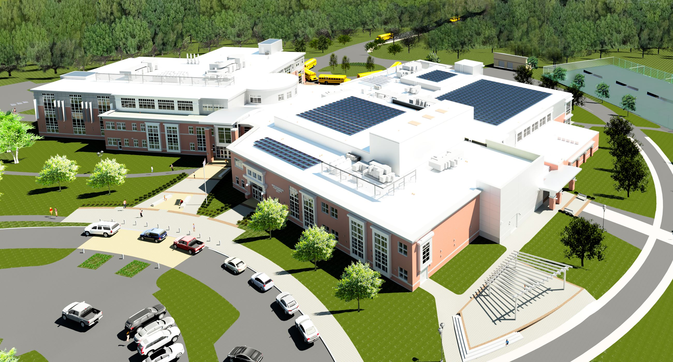 MHS Rendering of Main Entrance