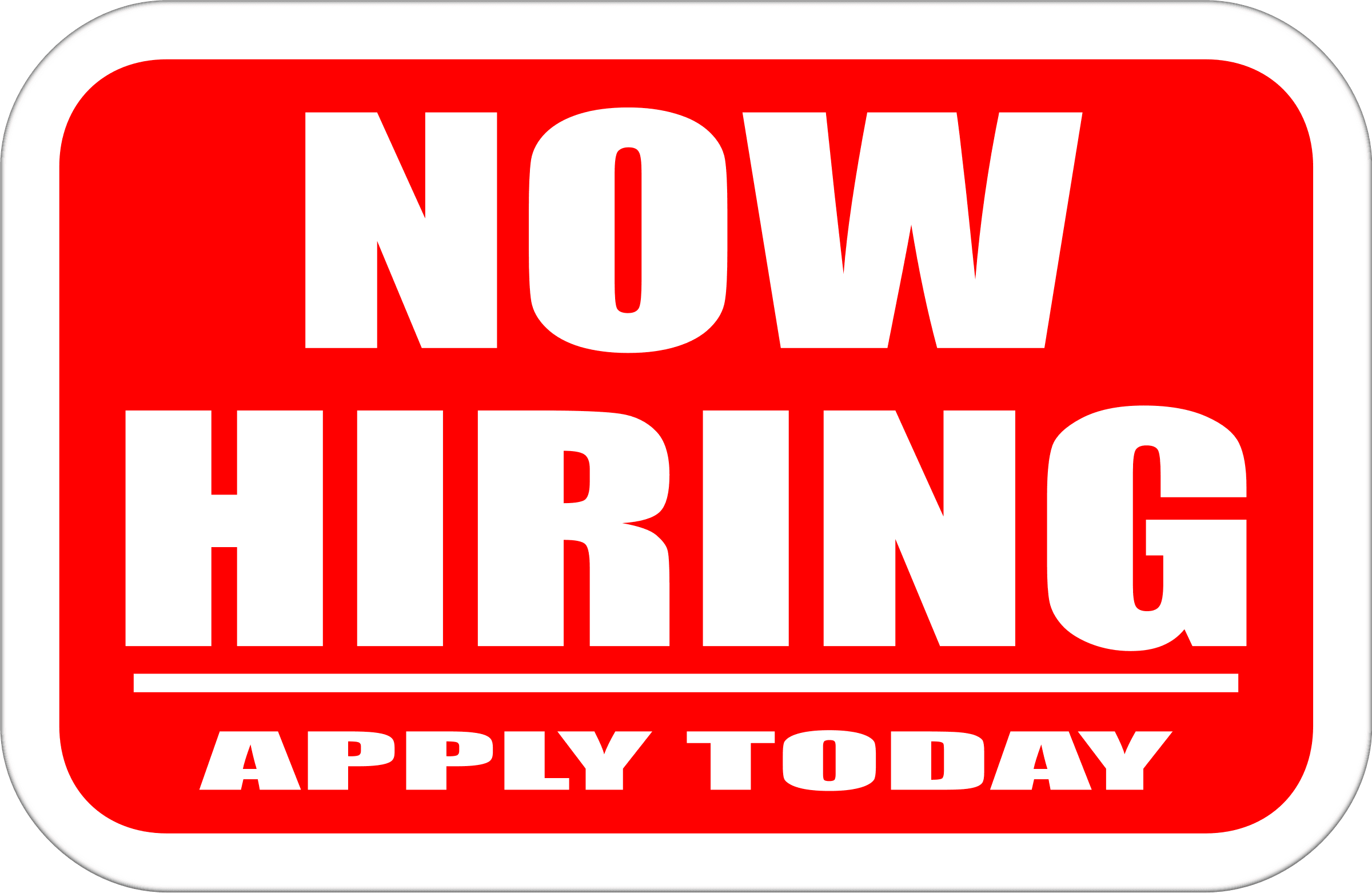 now hiring logo