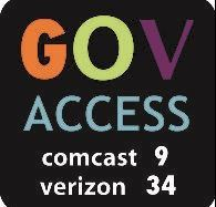 Government Access logo channels Comcast 9 and Verizon 34