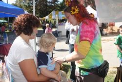 Facepainting at the Soule Farm Festival
