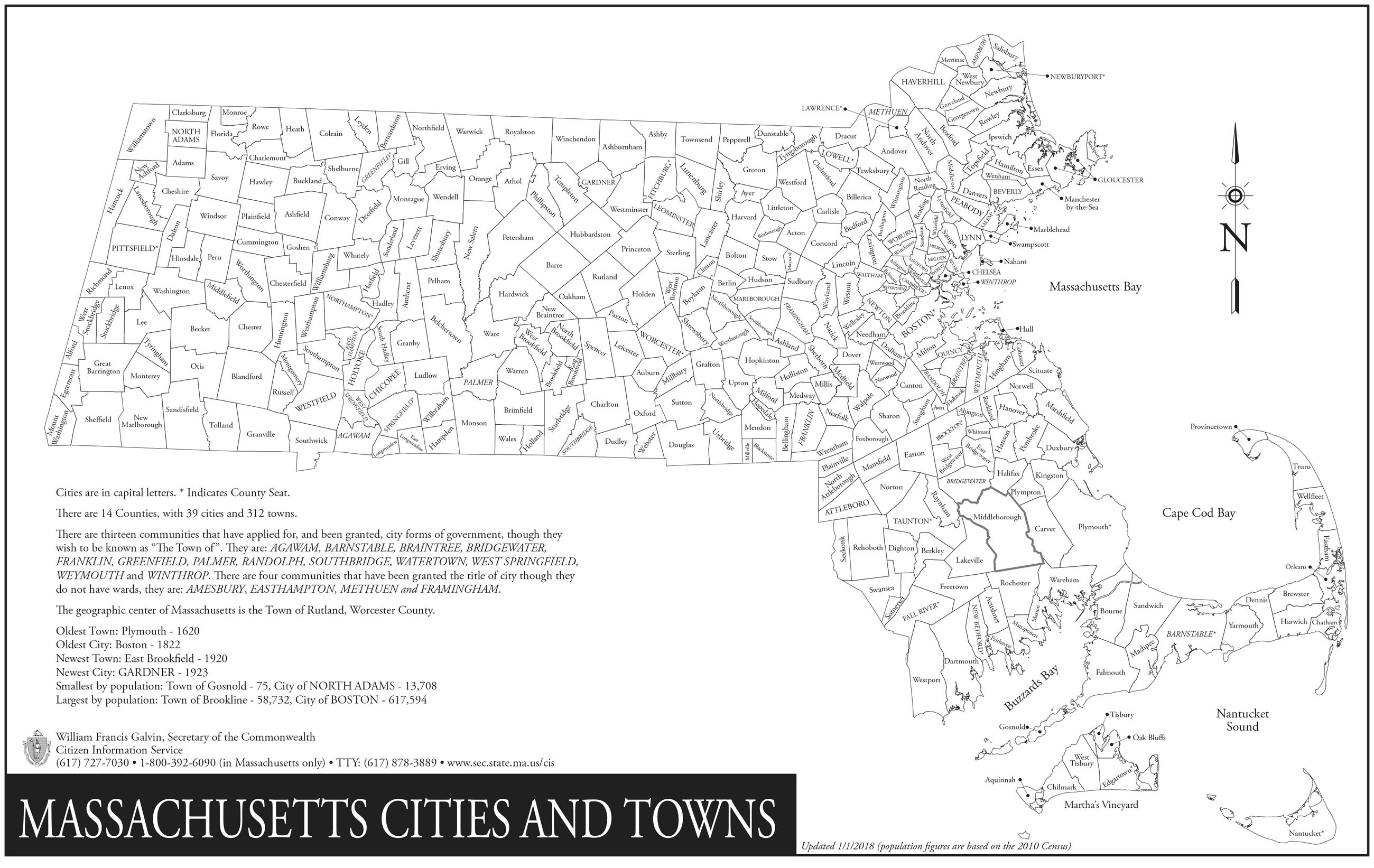 MA city & town map