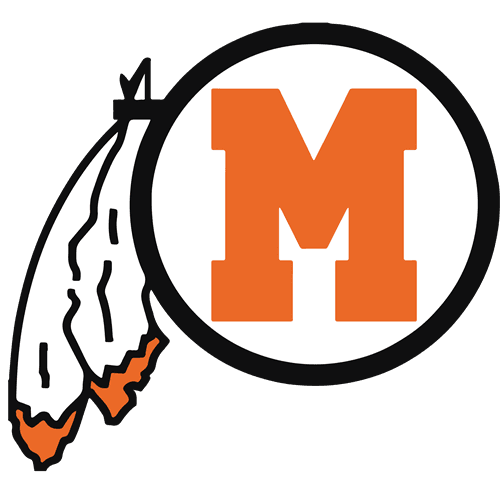 Middleborough High School logo with feather